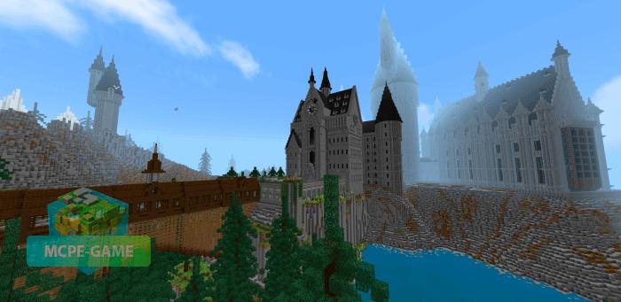 Карта Хогвартс для Minecraft PE