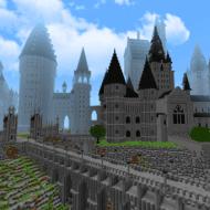 Скачать карту Хогвартс для Minecraft PE