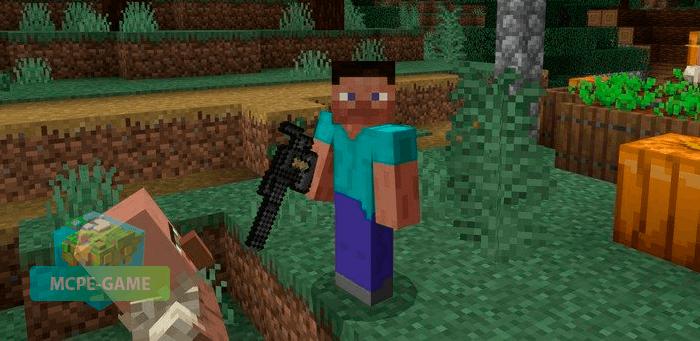 Оружие из мода Actual Guns на Майнкрафт ПЕ
