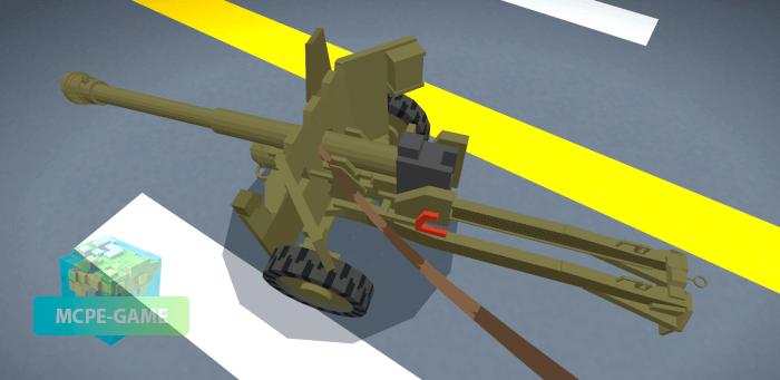QF 6 pounder на Майнкрафт ПЕ