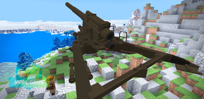 240-мм гаубица M1 на Майнкрафт ПЕ