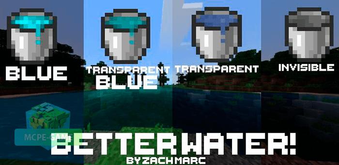 Скачать текстуры Better Water! для Minecraft PE на Андроид и iOS