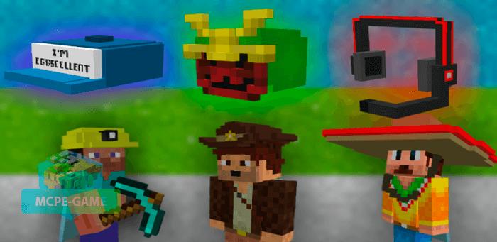Скачать мод Caps and Hats для Minecraft PE на Андроид и iOS