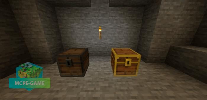 Сундуки из мода Cave Update для Майнкрафт ПЕ
