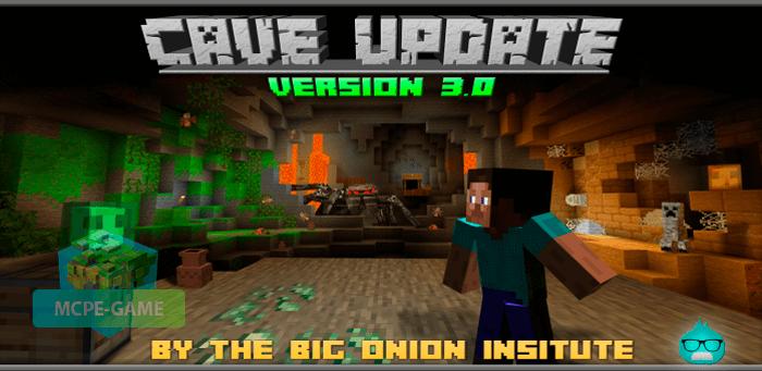 Скачать мод Cave Update для Minecraft PE