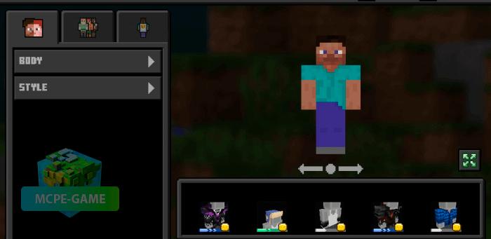 Темный интерфейс для Minecraft PE