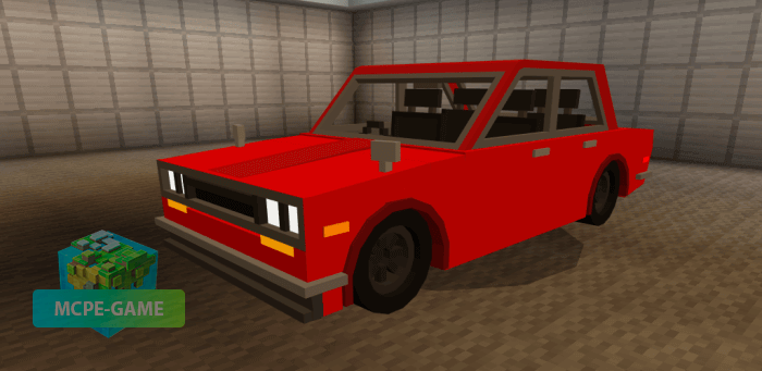 Машина Datsun 510 для Майнкрафт ПЕ