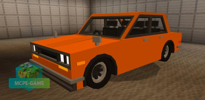 Скачать мод на машину Datsun 510 для Minecraft PE