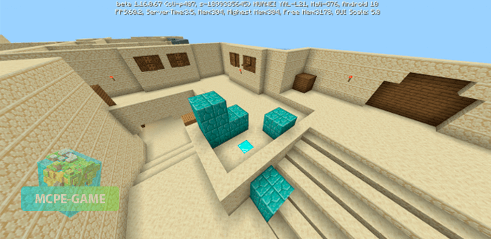 Карта de_dust2 для Майнкрафт ПЕ