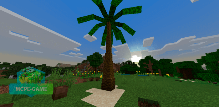 Мод на анимацию рубки деревьев для Майнкрафт ПЕ