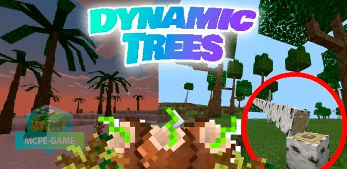 Скачать мод Dynamic Trees для Minecraft PE на Андроид и iOS