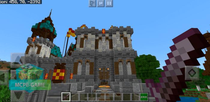 Карта Волшебный Замок для Майнкрафт ПЕ
