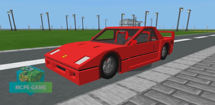 Скачать мод на Ferrari F40 для Minecraft PE на Андроид и iOS