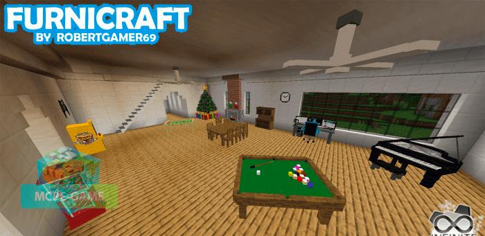 Скачать мод Furnicraft для Minecraft PE