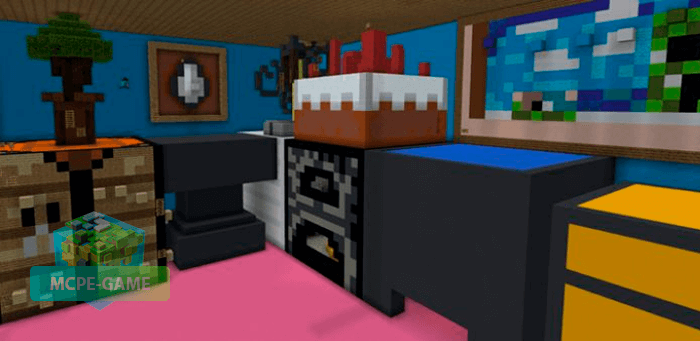 Скачать карту Паркур в доме гиганта на Minecraft PE