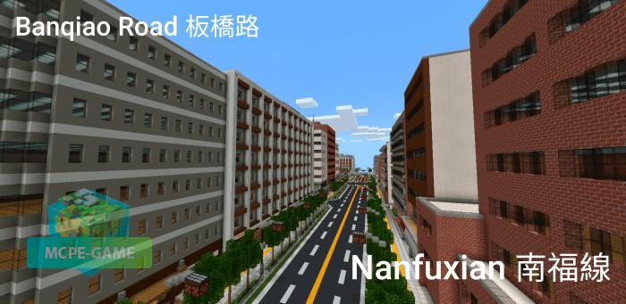 Скачать карту Hangshui City для Minecraft PE на Андроид и iOS