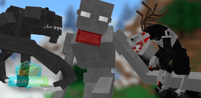 Скачать мод Humanoid Terrors для Minecraft PE