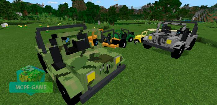 Скачать мод Jeep для Minecraft PE на Андроид и iOS