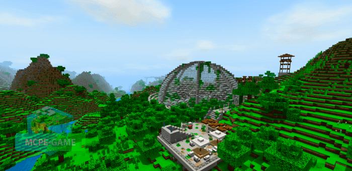 Скачать карту Мир Юрского Периода для Minecraft PE