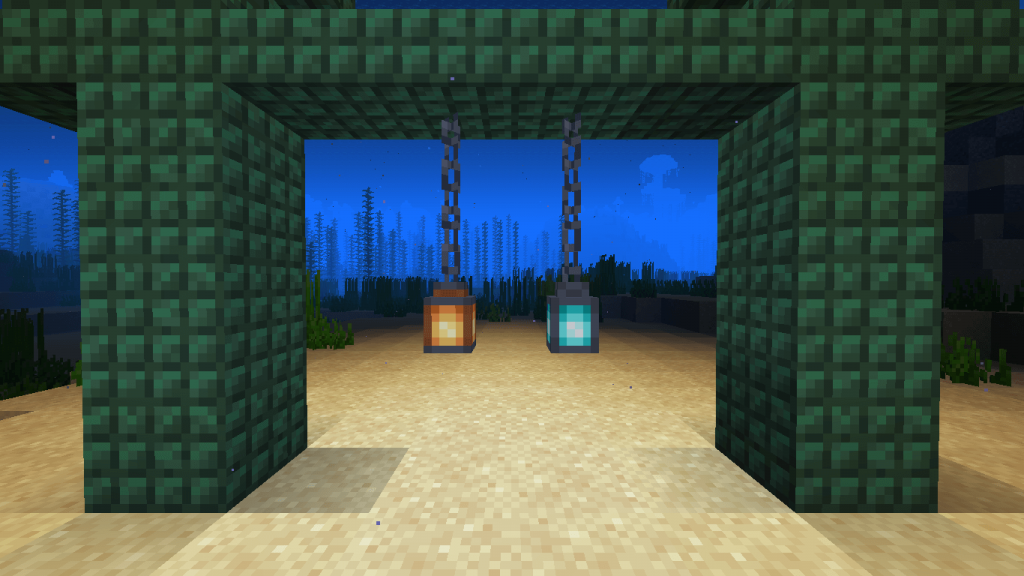 Новые фонари под водой