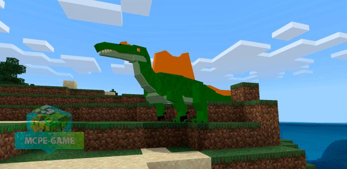 Спинозавр в Майнкрафт ПЕ