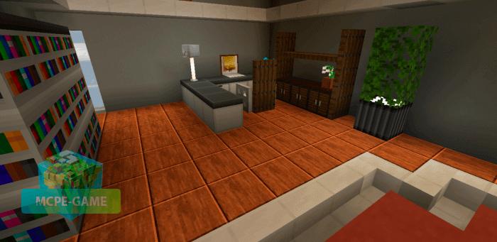 Постройки с новыми блоками из мода Modern Blocks для Minecraft PE