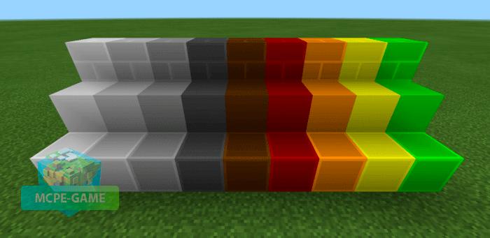 New blocks from the Modern Blocks mod for Minecraft PE