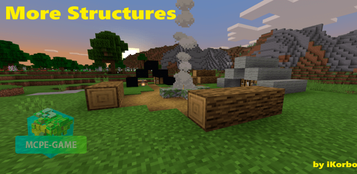 Скачать мод More Simple Structures для Minecraft PE