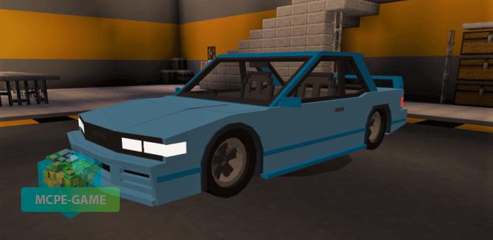 Скачать мод на машину Nissan Silvia S13 для Minecraft PE