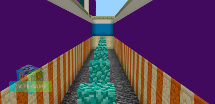Map for parkour training in Minecraft PE