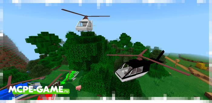 Plane — Мод на самолеты и вертолеты для Майнкрафт