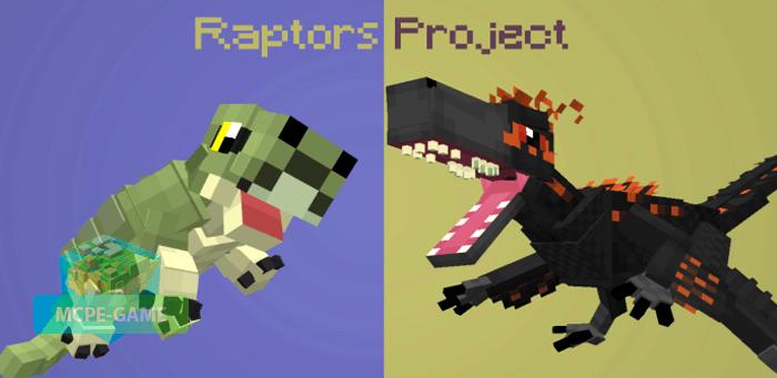Скачать мод Raptors Project для Minecraft PE