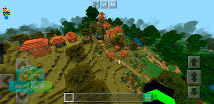 Сид на деревню с ущельем для Майнкрафт ПЕ