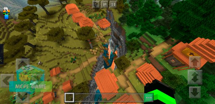 Сид на деревню с ущельем для Minecraft PE на Андроид и iOS