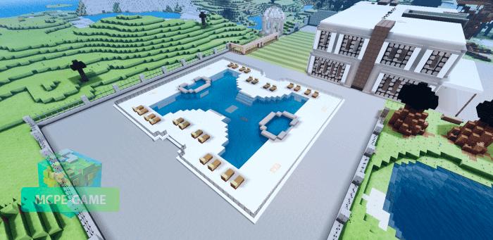 Карта современный дом для Minecraft PE