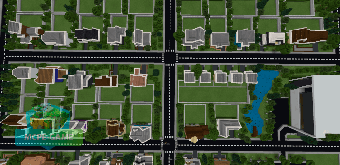 Скачать карту Пригородный Район для Minecraft PE на Андроид и iOS