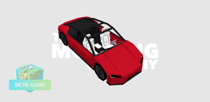 Tesla Roadster на Майнкрафт ПЕ