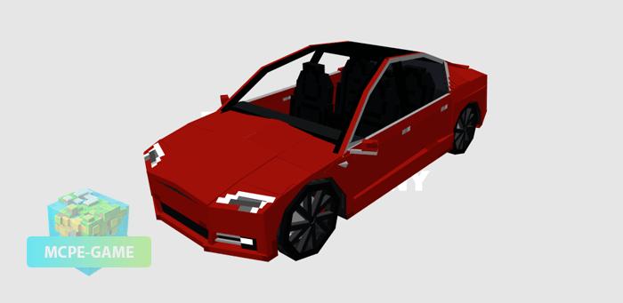 Tesla Model S на Майнкрафт ПЕ