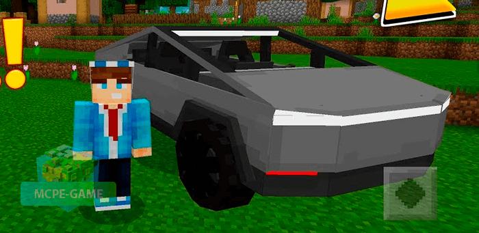 Скачать моды на автомобили Tesla для Miecraft PE на Андроид и iOS