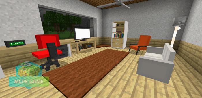 Мод на мебель Umak Furniture++ для Майнкрафт ПЕ