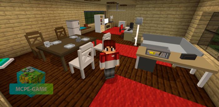 Скачать мод на мебель Umak Furniture++ для Minecraft PE