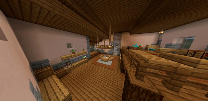 Map of Zelda's House in Minecraft PE