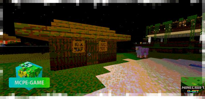Скриншоты работы 8-битных шейдеров на Майнкрафт ПЕ