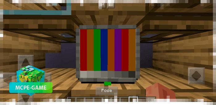 Канал с профилактикой из мода на телевизор для Майнкрафт ПЕ