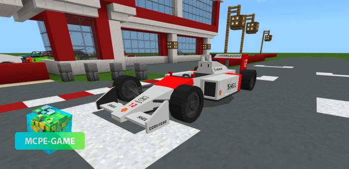 Спортивный болид из гонок Формула 1