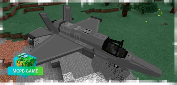 Военный истребитель из мода PlaneCraft