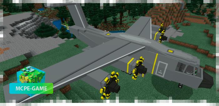 Грузовой самолет из мода PlaneCraft