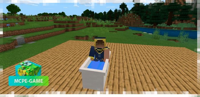 Bathroom Furniture from the Potopo: Furniture mod for Minecraft PE