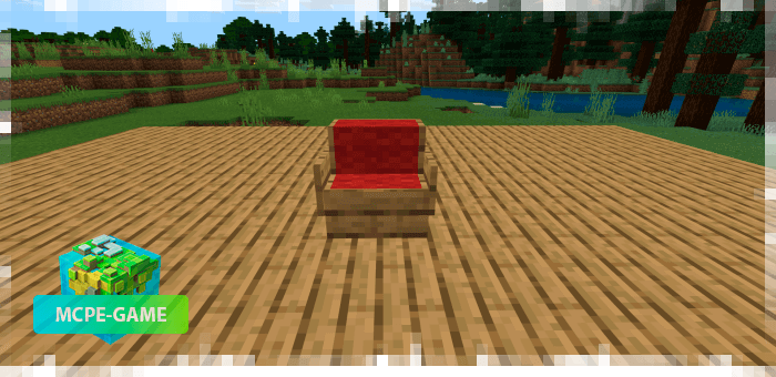 Sofas and chairs from the Potopo: Furniture mod for Minecraft PE