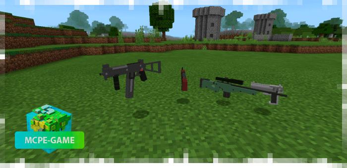 3D оружие для Майнкрафт ПЕ